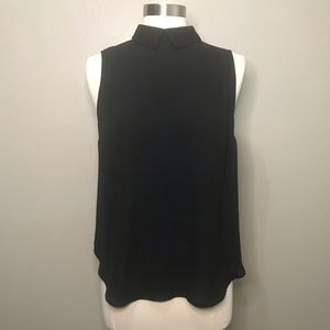 Who What Wear Black Collared Dress Shirt